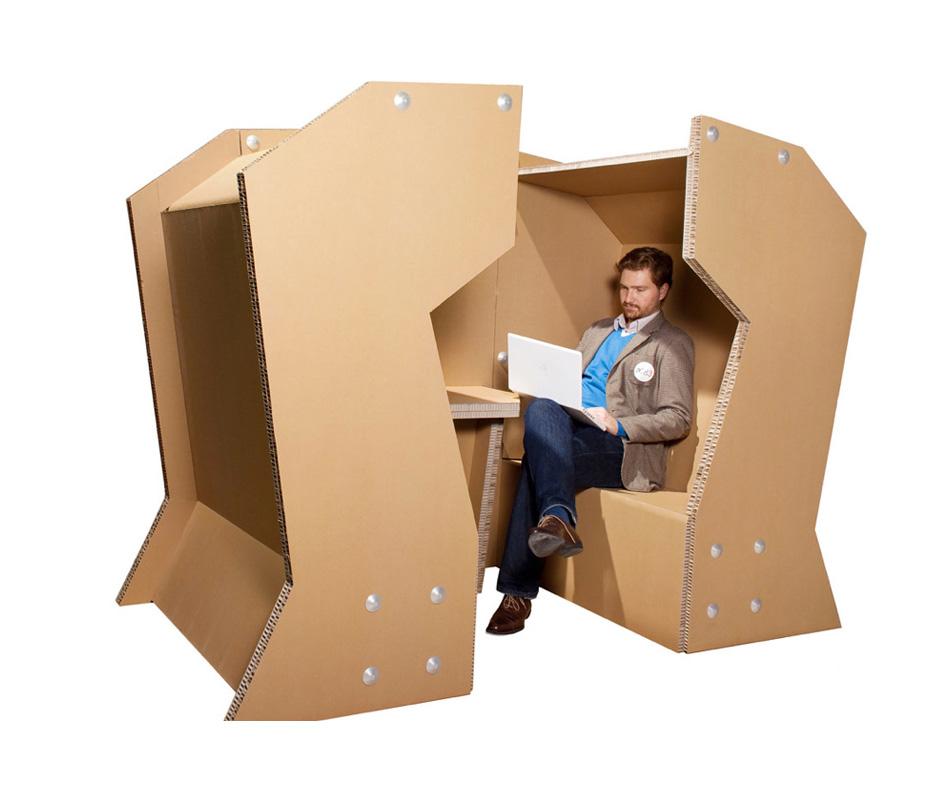 Cardboard Office By Coudamy Design