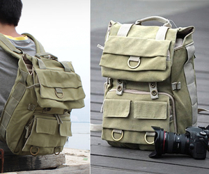 Careell Canvas Camera Backpack