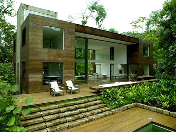 arthur casas 39 amazonian jungle house. Black Bedroom Furniture Sets. Home Design Ideas