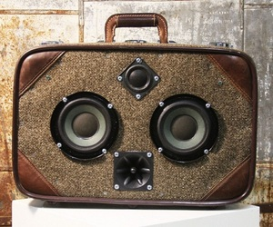 Case Of Bass Vintage Suitcase Boombox