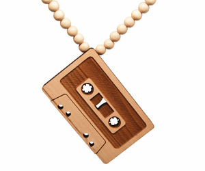 Cassette wood necklace by GoodWood