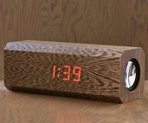 Cassia Wood Alarm Clock