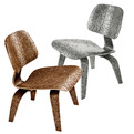 Cast Aluminum and Bronze Eames LCW