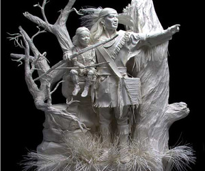 Cast Paper Sculptures of Allen and Patty