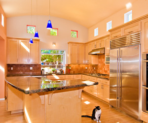 Kitchen with Barrel Ceiling and Clerestory Windows
