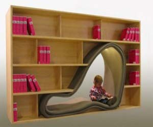 Cave Bookcase Design