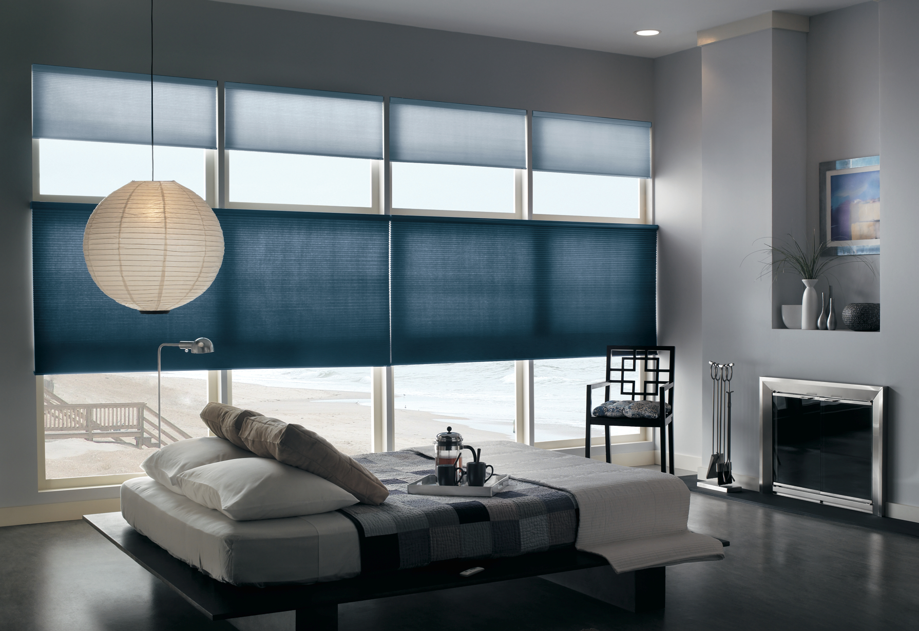 Cellular shades for your master bedroom from blindsgalore Window coverings for bedrooms