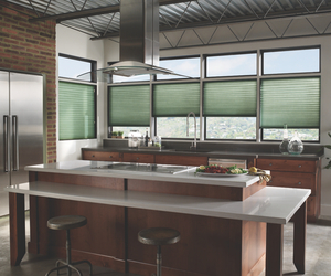 Modern Kitchen Cellular Shades from Blindsgalore.com