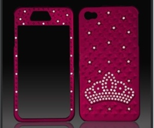 CellXpressions Apple iPhone 4 red bling case-cover