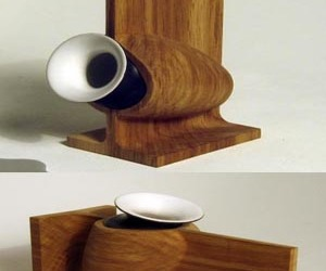 Ceramic And Wood Vases