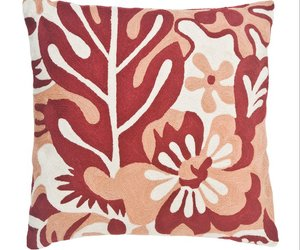 chainstitch floral cushioncover