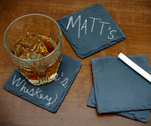 Chalkboard Slate Coasters | Keep Track of Your Drink