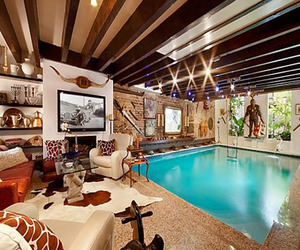Chelsea Townhouse with Pool in the Living Room