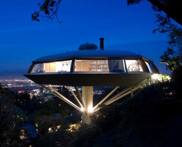 Chemosphere house in the hollywood hills by john lautner for Buy house hollywood hills