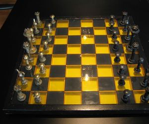 Chess Set made by armed services personnel during WW II