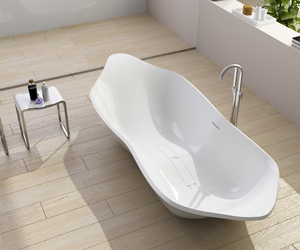 Chic and Modern Designed Solid Surface Bathtub