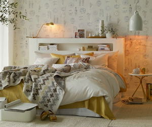 Chic Gold And White Bedroom Design