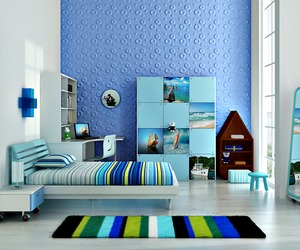 children livingroom of wall panel decor use 3d board
