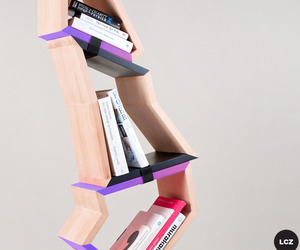 Chopped tree bookshelf by Lenka Czereova