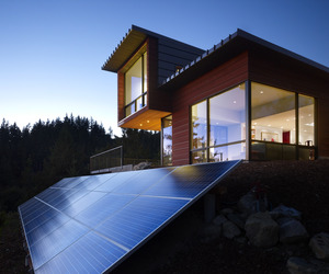 Chuckanut Ridge House designed by Prentiss Architects