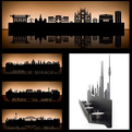 City Skyline Tea Light Holders by Radius