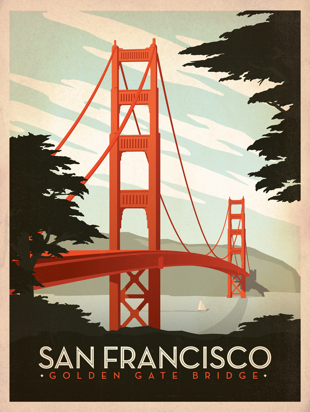 Classic american travel posters by joel anderson for Design agency usa
