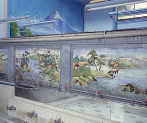 Classic Bathroom Tile Paintings from Japan