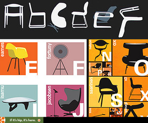 Classic Modern Chair Alphabets by Two Different Artists