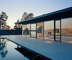 Classic modern lake house