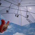 Clock-Parasol by Kota Nezu