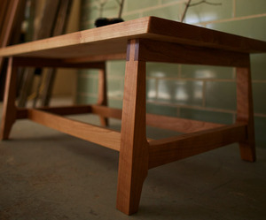 Clothespin Coffee Table by Ivory Bill Furniture
