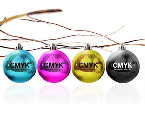 CMYK Christmas Ornaments for Designers