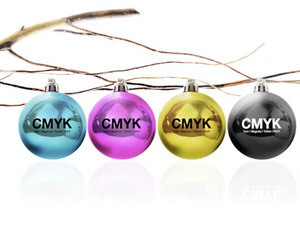 CMYK Christmas Ornaments