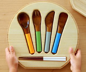 Co Zen Urushi Cutlery Set for Kids