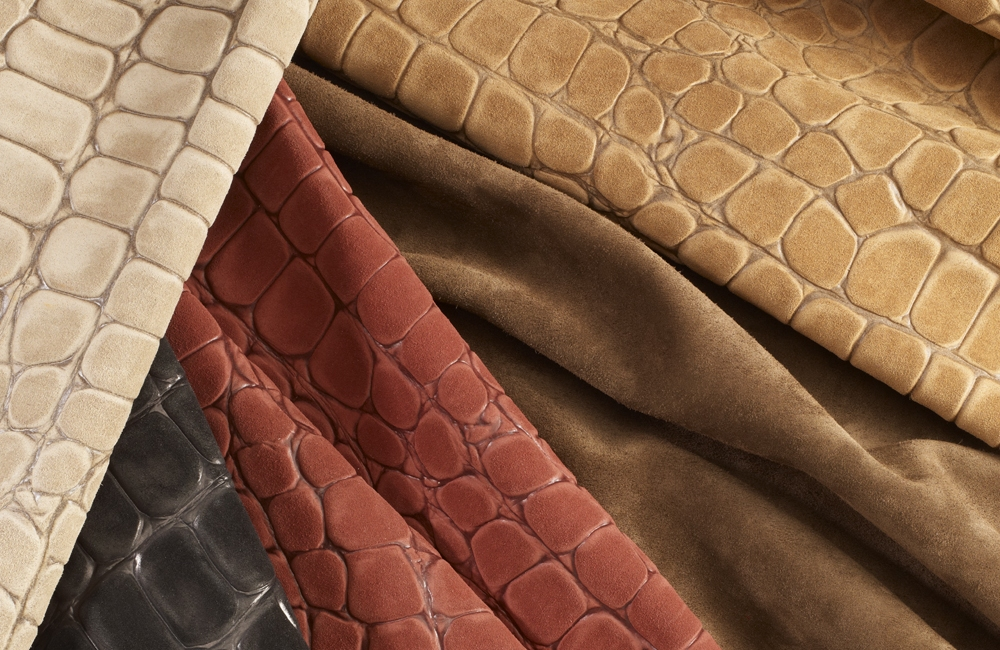 Cocco Embossed Suede Cortina Leathers