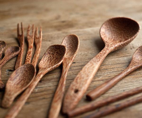 Coco Wood Kitchen Utencils