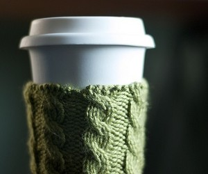 Coffee Cup Cozy in Moss Green