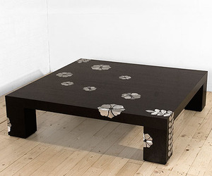 Coffee Table with Aluminum Decor