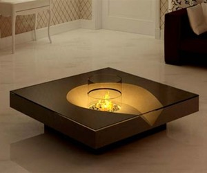 Coffee Table with Fireplace by Planika Fires