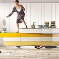 Coloful Kitchen Cabinets by Lago