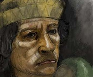 Colonel Gaddafi Illustrations