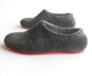 Color Block Red Sole Wool Shoes Charcoal. Men. All sizes