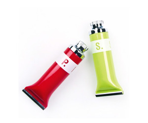 Color Tubes Salt & Pepper Shakers