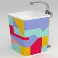 Colored Monowash sink from Ceramica Flaminia