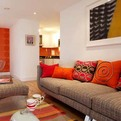 Colorful Design of Living Room by Adrienne Chinn