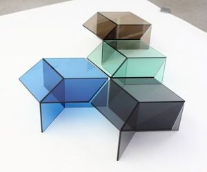 Colorful Glass Tables by Sebastian Scherer