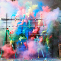 Colourful Smoke Bombs in Paris by Olaf Breuning