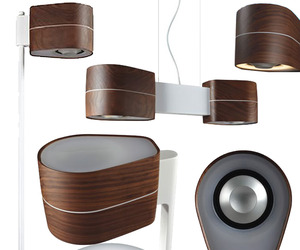 Combination Modern Lighting and Wireless Speakers