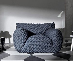 Upholstered Cloud Chair and Sofas by Paola Navone