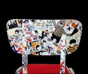 Comic Decoupage Chair
